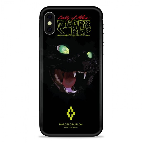 check out 64c17 8f80a Marcelo Burlon - Cat Cover - iPhone X - Apple - County of Milan - Printed  Case
