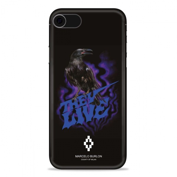 Marcelo Burlon - Raven Cover - iPhone 8 / 7 - Apple - County of Milan - Printed Case