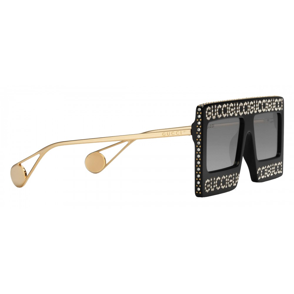 95bc1e2ecbf ... Gucci - Acetate Sunglasses with Mask Frame - Black - Gucci Eyewear ...