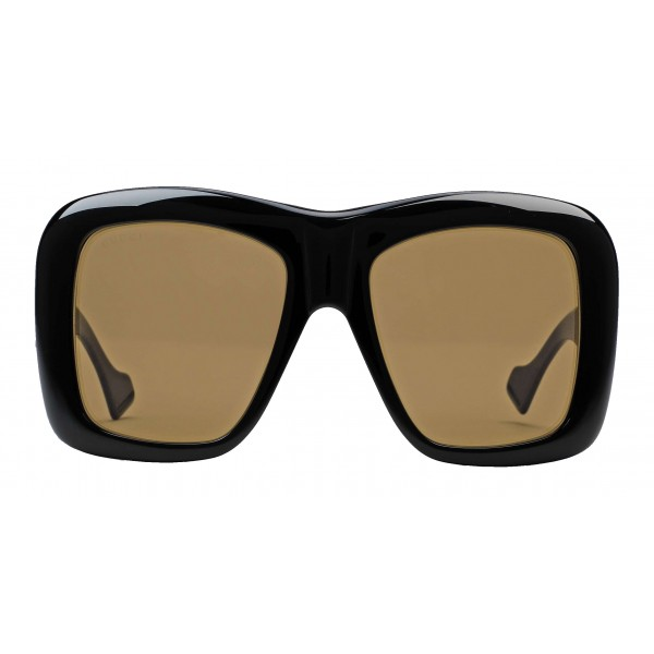 5f4fb198b3cf Gucci - Square Oversize Sunglasses - Glossy Black - Gucci Eyewear - Avvenice