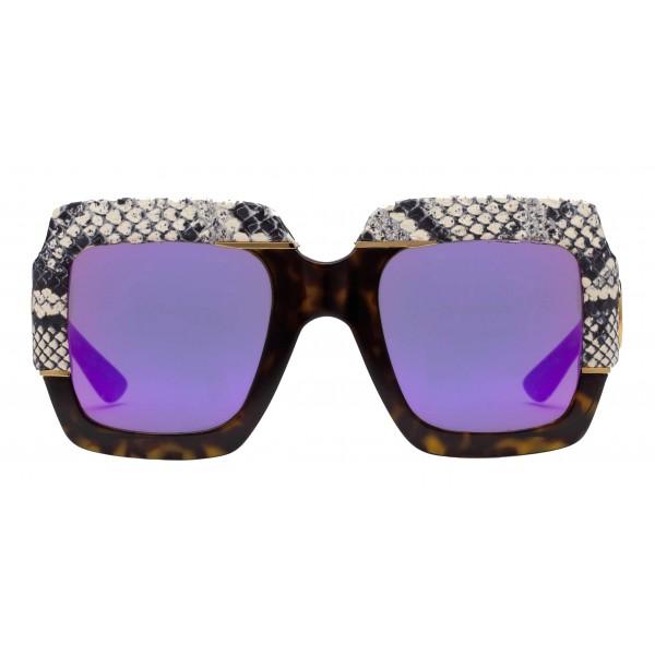 67a6821a Gucci - Square Oversize Sunglasses - Snake - Gucci Eyewear