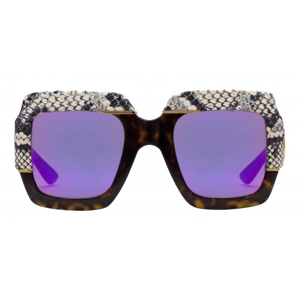 c6e396ce79c5 Gucci - Square Oversize Sunglasses - Snake - Gucci Eyewear - Avvenice