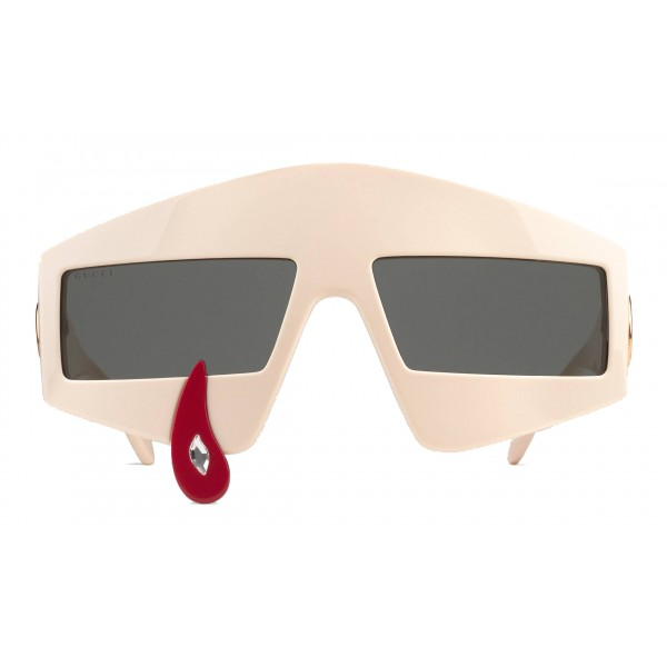 Gucci - Rectangular Acetate Sunglasses - Ivory - Gucci Eyewear