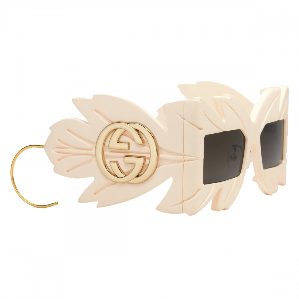 ef31327eba48 ... Gucci - Sunglasses with Mask with Swarovski Crystals Limited Edition -  White - Gucci Eyewear ...