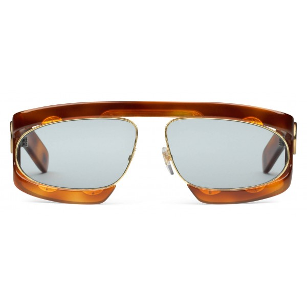 Gucci - Occhiale da Sole Rettangolari in Acetato - Tartaruga - Gucci Eyewear