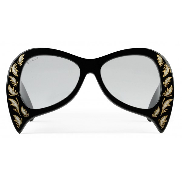 8e0cd247b98 Gucci - Oversized Sunglasses with Mother-of-Pearl Details - Black - Gucci  Eyewear - Avvenice