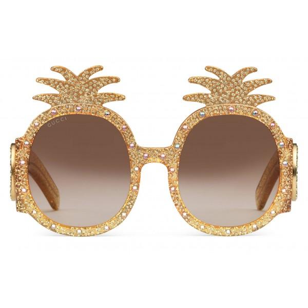 24831829b43 Gucci - Acetate Sunglasses with Pineapple Pattern - Gucci Eyewear ...
