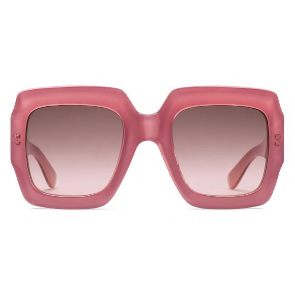Gucci - Occhiale da Sole Quadrati - Rosa - Gucci Eyewear