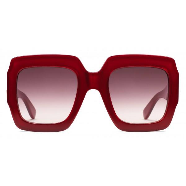 Gucci - Occhiale da Sole Quadrati - Rossi - Gucci Eyewear