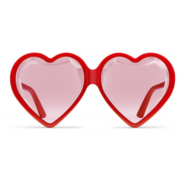 3049d292b7 Gucci - Acetate Heart Sunglasses with Optimal Fit - Red Heart - Gucci  Eyewear - Avvenice