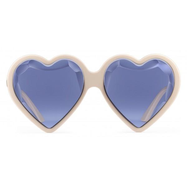 Gucci - Occhiali Da Sole a Cuore in Acetato - Avorio Viola - Gucci Eyewear