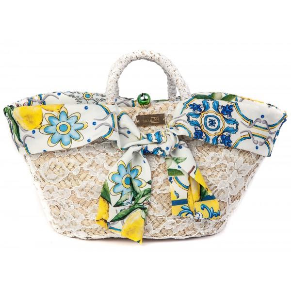 SicuLAB - Coffa Priziusa - Sicilian Artisan Handbag - Sicilian Coffa - Luxury High Quality Handicraft Bag