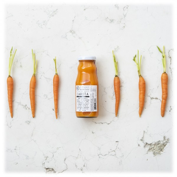 Dr. Farmer - Smoothie Juice 100 % in Purezza - Carota - 100 % Biologico - 100 % Italiano - 100 % Vegan - Succhi Bio