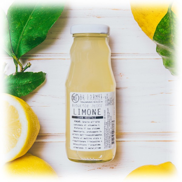 Dr. Farmer - Smoothie Juice 100 % in Purezza - Limone di Sicilia - 100 % Biologico - 100 % Italiano - 100 % Vegan - Succhi Bio