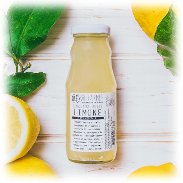 Dr. Farmer - Smoothie Juice 100 % in Purezza - Limone di Sicilia - 100 % Biologico - 100 % Italiano - 100 % Vegan - Succhi Bio