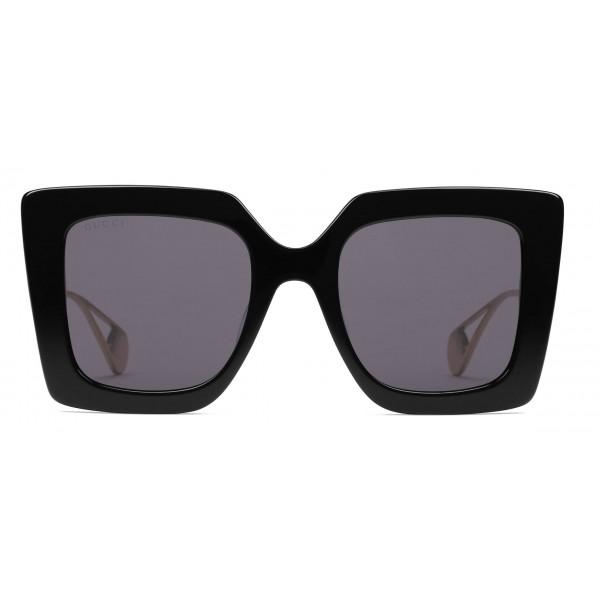 fd0a9470997 Gucci - Square Frame Sunglasses - Glossy Black - Gucci Eyewear ...
