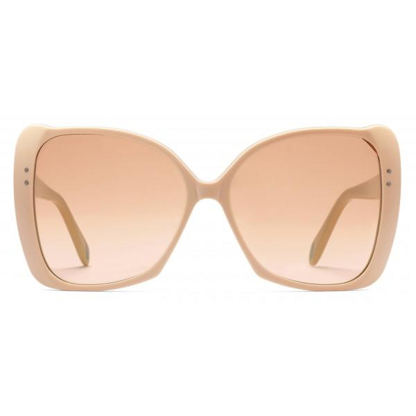 Gucci - Occhiali da Sole Quadrati Oversize - Acetato Nude - Gucci Eyewear
