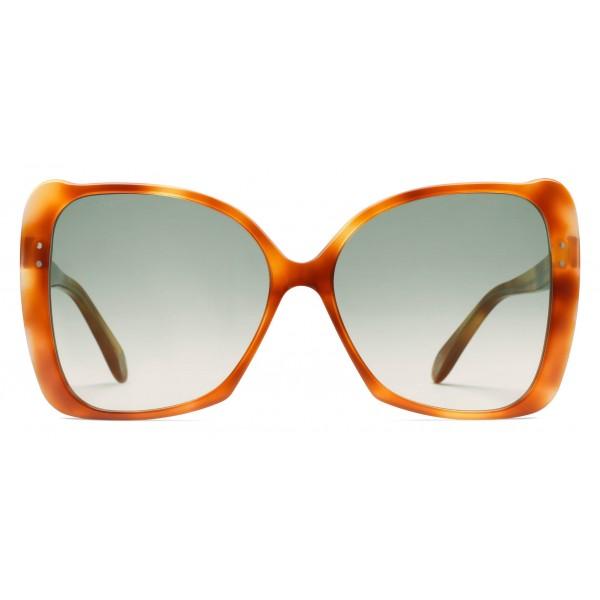 Gucci - Occhiali da Sole Quadrati Oversize - Acetato Tartarugato Chiaro - Gucci Eyewear