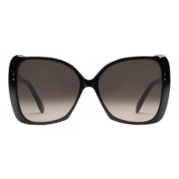 Gucci - Occhiali da Sole Quadrati Oversize - Acetato Nero - Gucci Eyewear