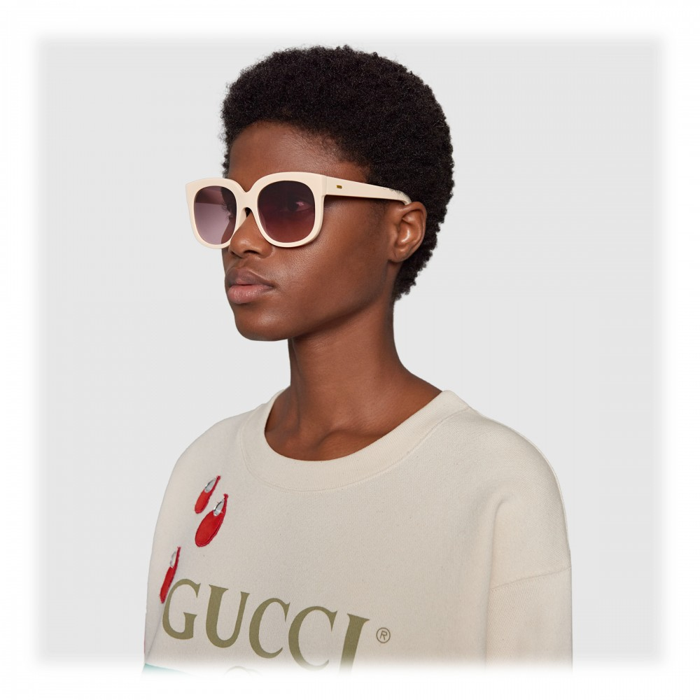 d4ad1f72 Gucci - Gucci Elton John Sunglasses Brown - Elton John - Ivory ...