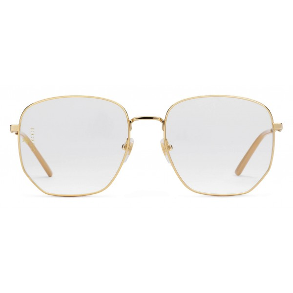 71f898de534a Gucci - Rectangular Frame Metal Glasses - Gold - Gucci Eyewear ...