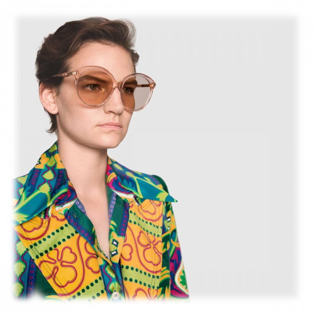 a0ce4217f65 ... Gucci - Specialized Fit Round Frame Acetate Sunglasses - Transparent Peach  Acetate - Gucci Eyewear