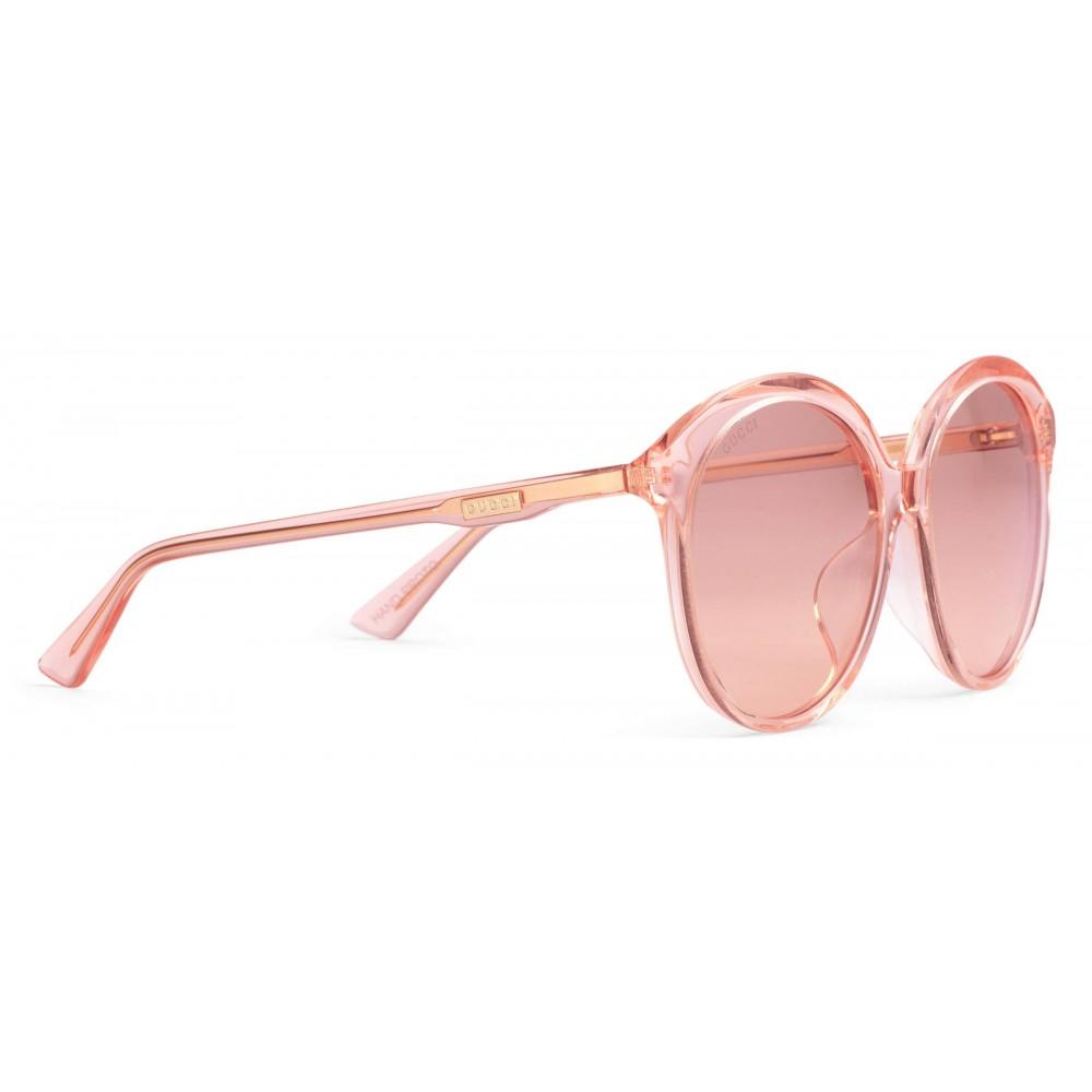 c8af2ca05cb ... Gucci - Specialized Fit Round Frame Acetate Sunglasses - Transparent Peach  Acetate - Gucci Eyewear ...