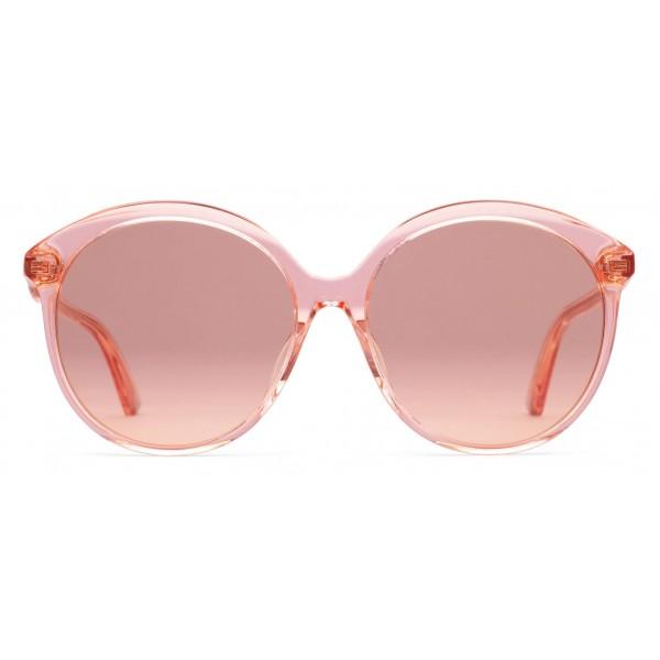 6e12dbe7287d Gucci - Specialized Fit Round Frame Acetate Sunglasses - Transparent Peach  Acetate - Gucci Eyewear