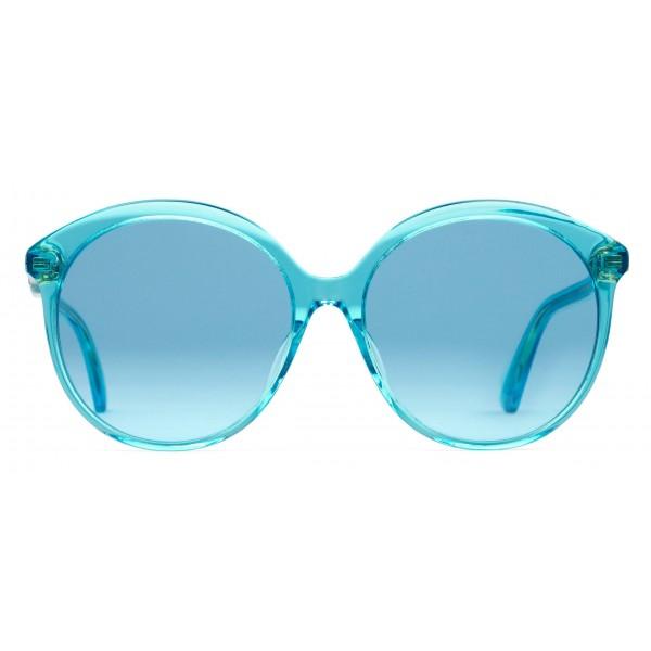 add308b44031 Gucci - Specialized Fit Round Frame Acetate Sunglasses -Transparent Blue  Acetate - Gucci Eyewear