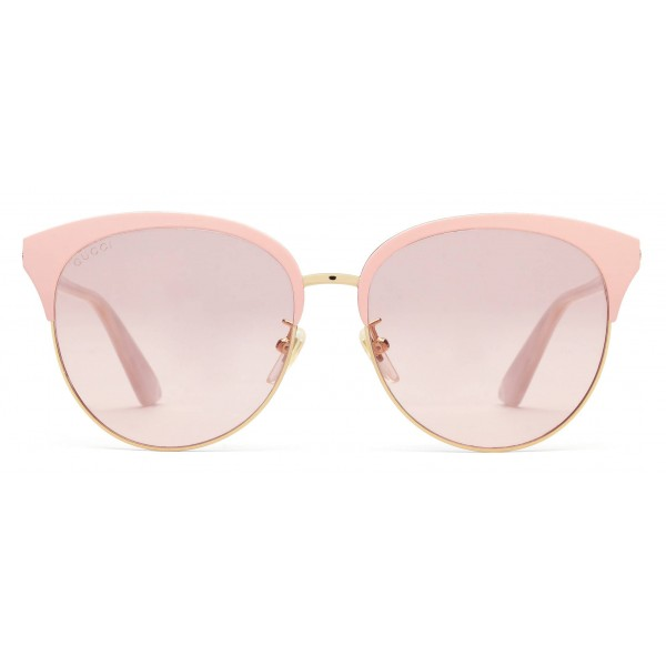 7b308d2248c Gucci - Specialized Fit Round Frame Metal Sunglasses - Light Pink - Gucci  Eyewear