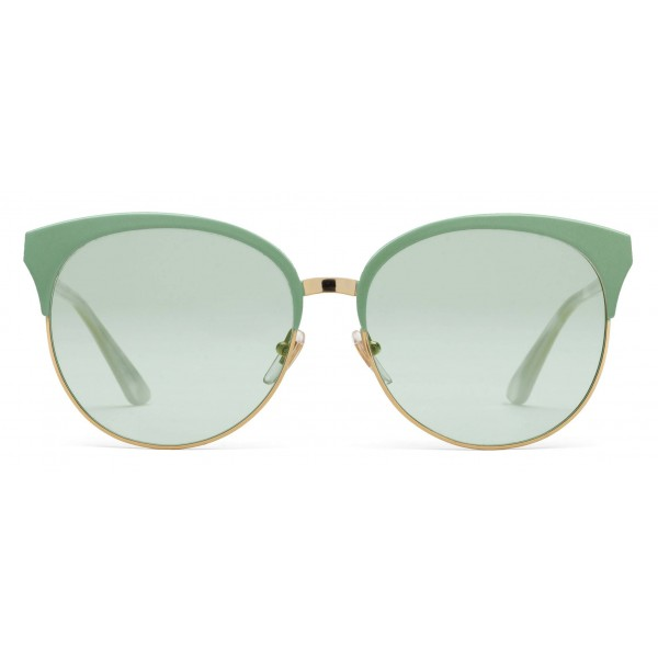 177107bca35 Gucci - Specialized Fit Round Frame Metal Sunglasses - Sage Green - Gucci  Eyewear