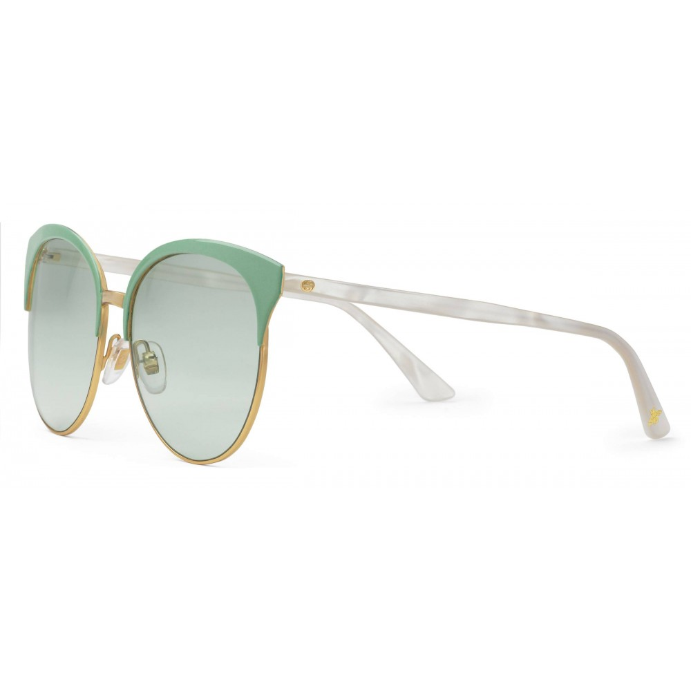 7e0bc762bd ... Gucci - Specialized Fit Round Frame Metal Sunglasses - Sage Green - Gucci  Eyewear ...