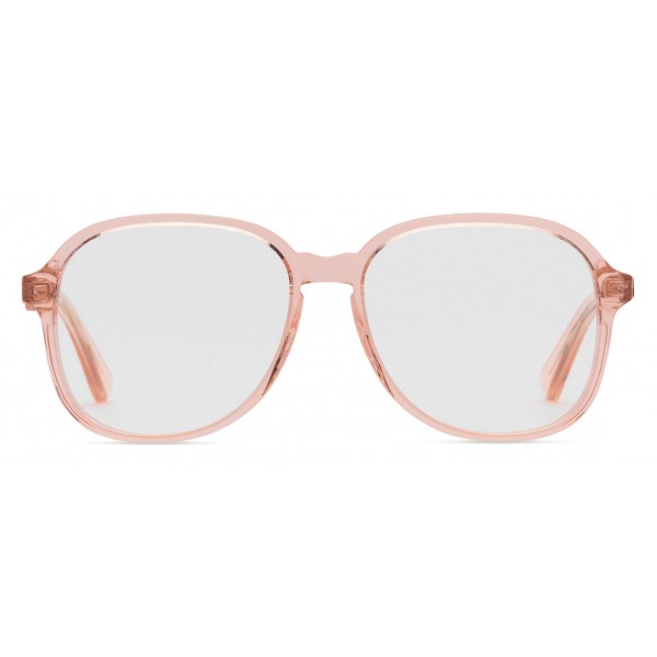 ba8661dd2 Gucci - Round Frame Acetate Glasses - Transparent Peach Acetate - Gucci  Eyewear