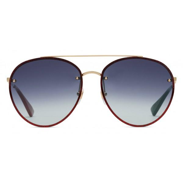 da70c3780 Gucci - Aviator Metal Sunglasses - Gold with Glitter Detail - Gucci Eyewear