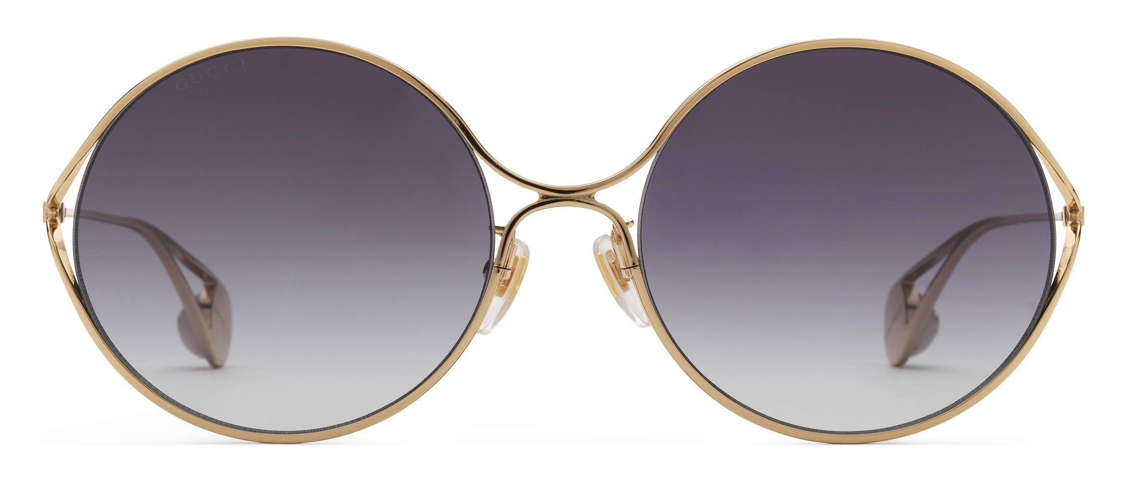 7241c8e29b057 Gucci - Round Frame Metal Sunglasses - Gold and Silver - Gucci Eyewear