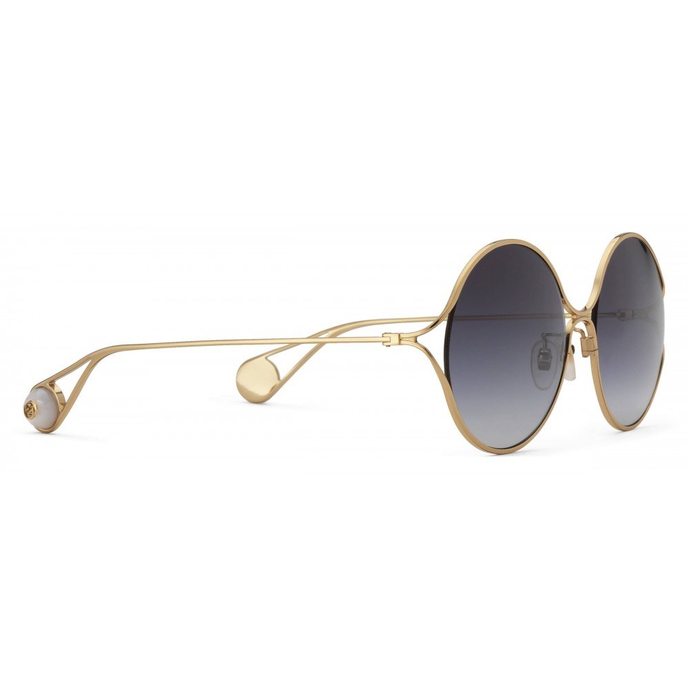 950609fc963 Gucci round frame metal sunglasses gold and silver gucci eyewear jpg  1000x1000 Gucci sunglasses gold with