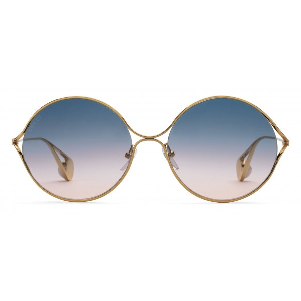 d501e1c52 Gucci - Round Frame Metal Sunglasses - Gold Forked - Gucci Eyewear