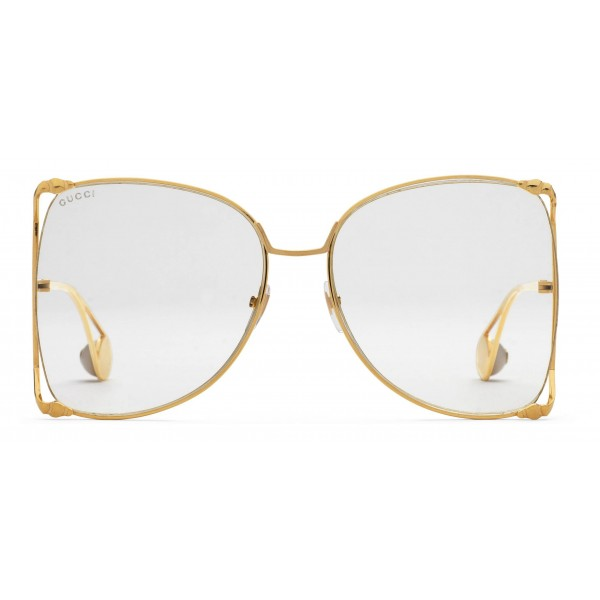 d1dad21bc24 Gucci - Oversized Round Metal Glasses - Gold - Gucci Eyewear ...