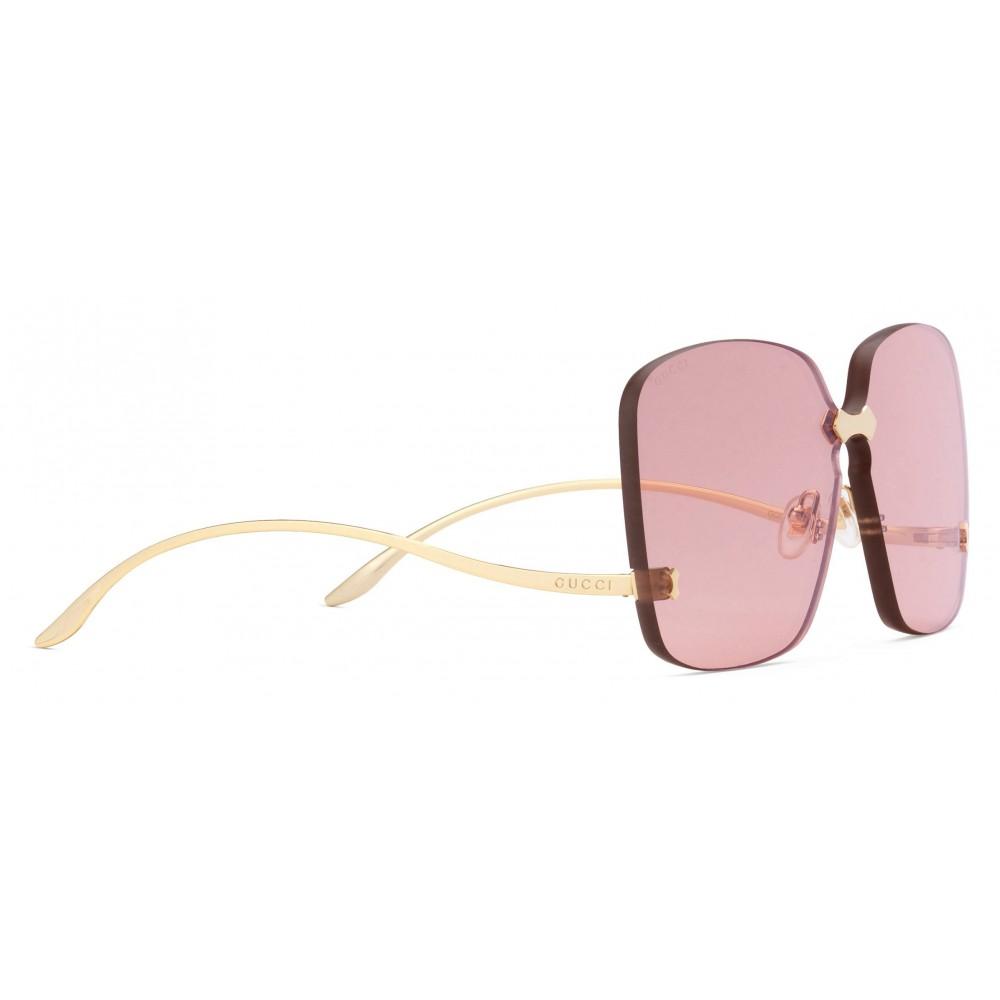 6d834d86d9 Gucci - Square Frame Rimless Sunglasses - Oro - Gucci Eyewear - Avvenice