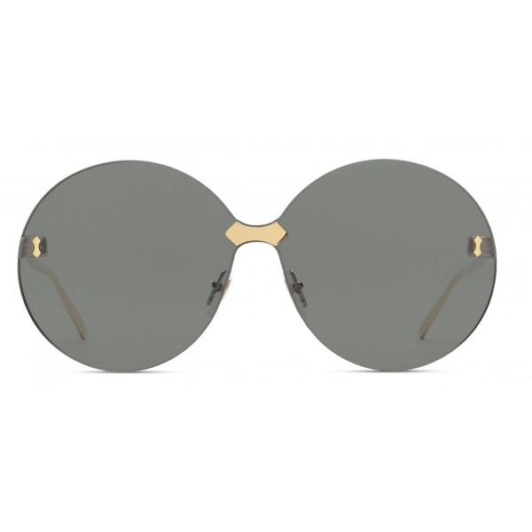 1d3f727caa Gucci - Round Frame Rimless Sunglasses - Gold Grey - Gucci Eyewear