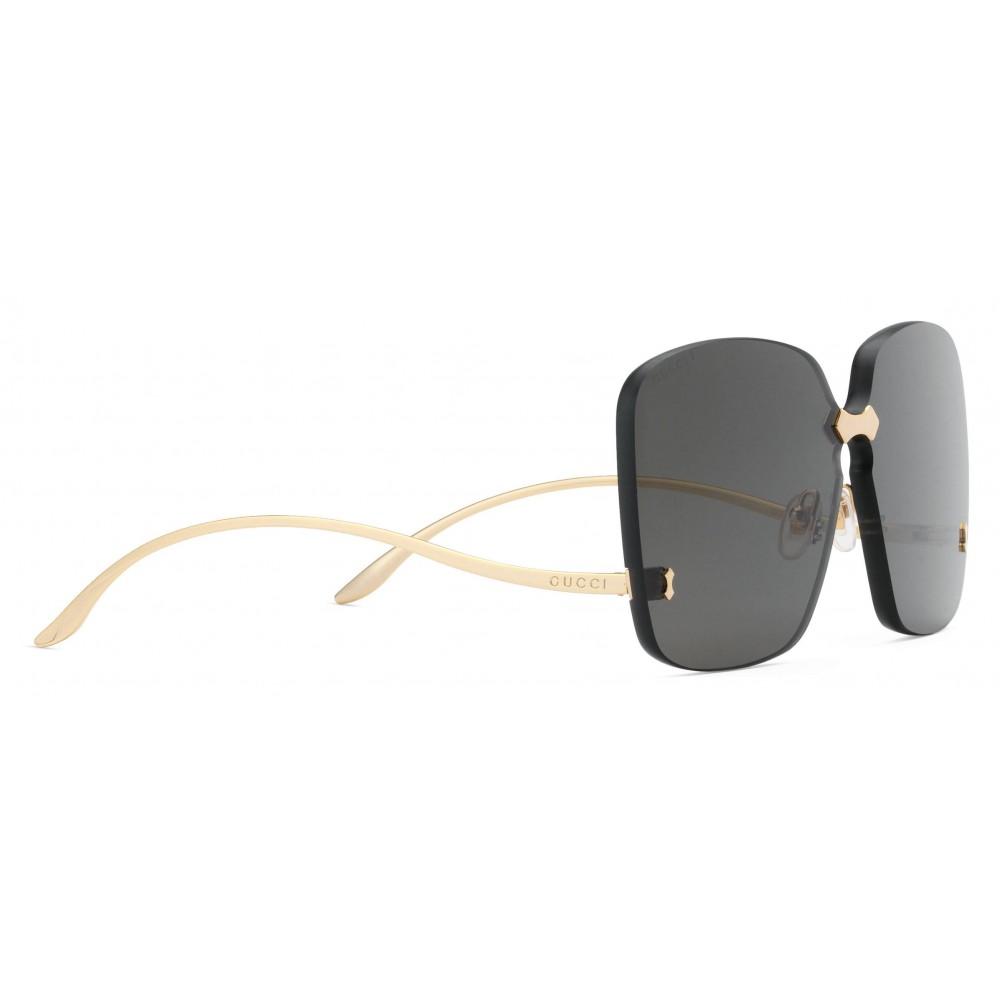4ce95b20d0 ... Gucci - Square Frame Rimless Sunglasses - Gold Grey - Gucci Eyewear ...