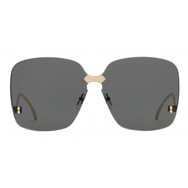 11c47fbb8e8 Gucci - Square Frame Rimless Sunglasses - Gold Grey - Gucci Eyewear