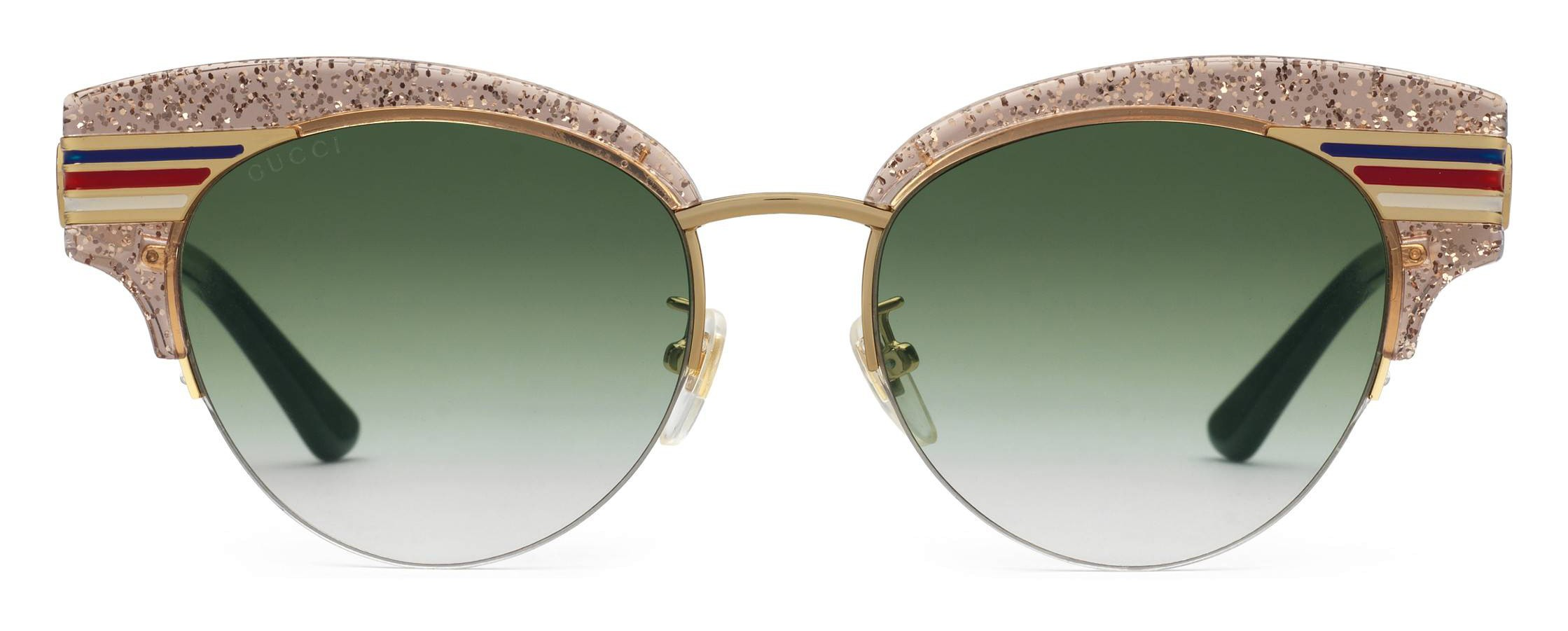 918e16fb7fd Gucci - Cat Eye Glitter Acetate Sunglasses - Beige Glitter Acetate and Gold  Metal - Gucci Eyewear - Avvenice