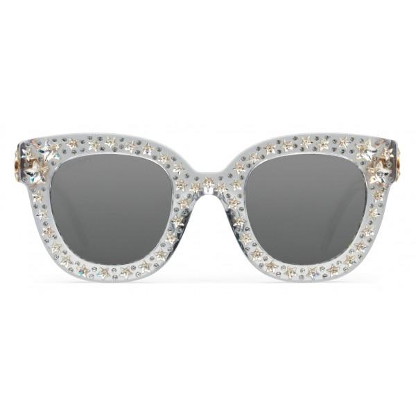 67fb148bff0 Gucci - Cat Eye Acetate Sunglasses with Stars - Clear Acetate - Gucci  Eyewear - Avvenice