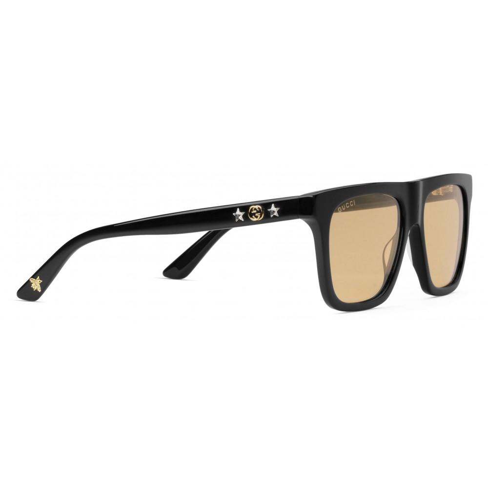cc04b06c9a3 ... Gucci - Rectangular-Frame Acetate Sunglasses - Black Acetate - Gucci  Eyewear ...