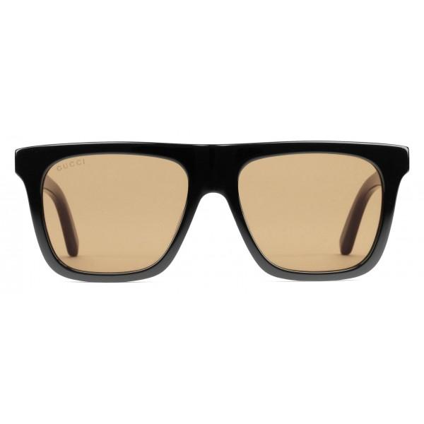 1f81889dfa Gucci - Rectangular-Frame Acetate Sunglasses - Black Acetate - Gucci Eyewear