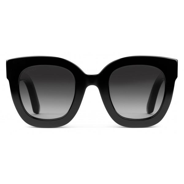 economico per lo sconto donna disabilità strutturali Gucci - Occhiali da Sole Rotondi in Acetato con Stella - Acetato Nero -  Gucci Eyewear - Avvenice
