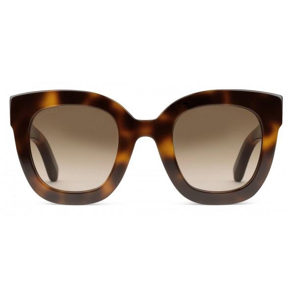 f2fa9c6ef22b Gucci - Round Frame Acetate Sunglasses with Star - Tortoiseshell Acetate -  Gucci Eyewear - Avvenice