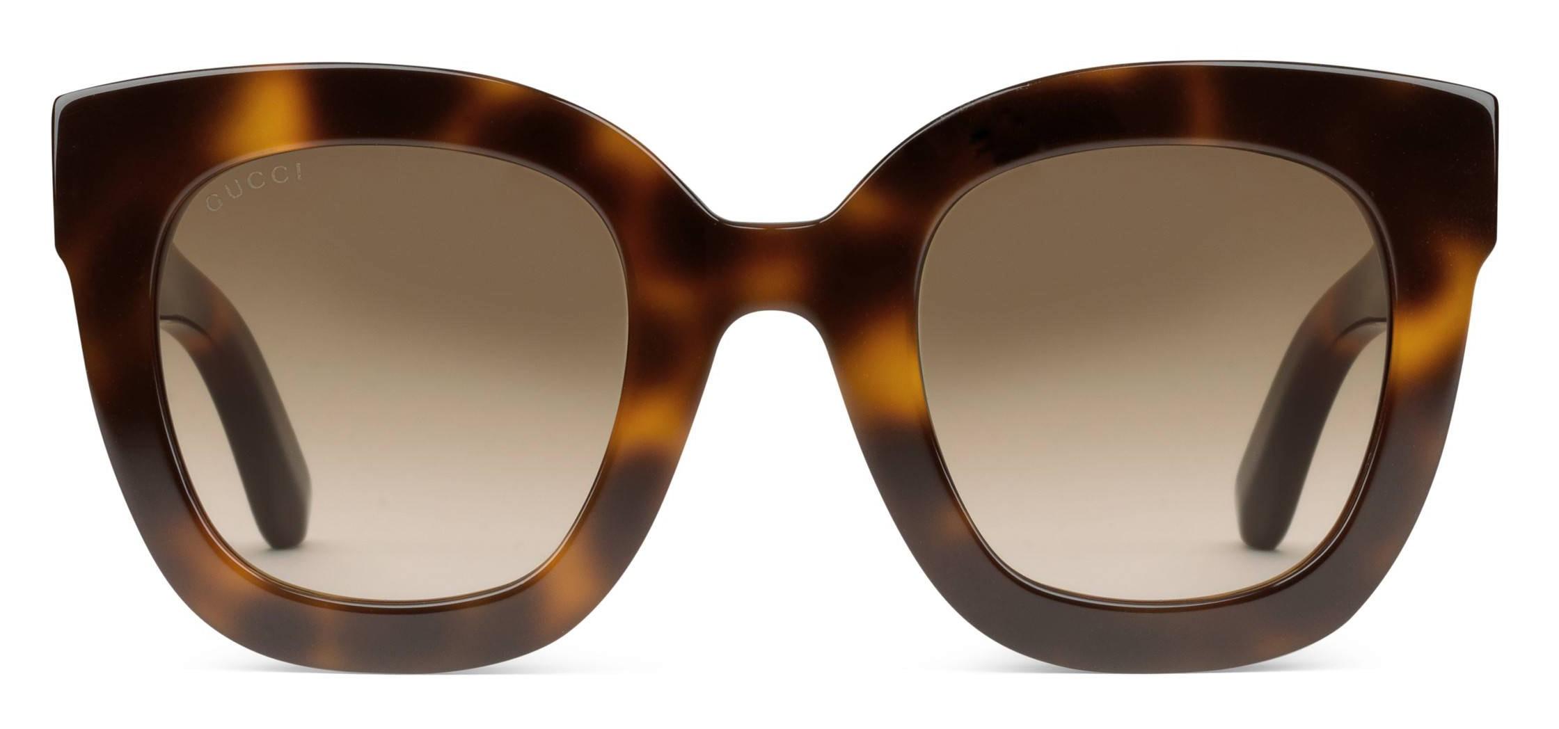 5fa5ff1c8dd Gucci - Round Frame Acetate Sunglasses with Star - Tortoiseshell Acetate - Gucci  Eyewear - Avvenice