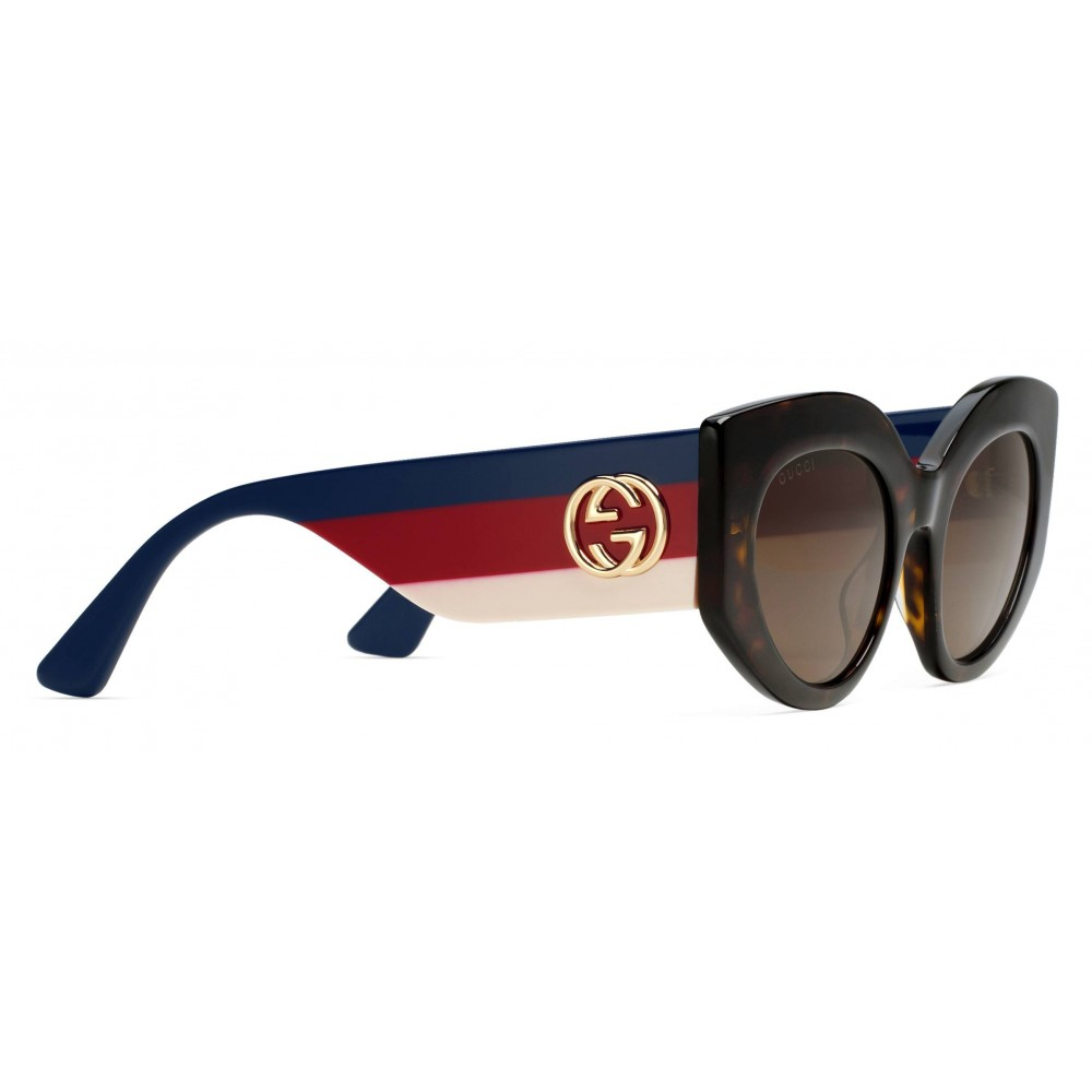 861860335fb ... Gucci - Oversize Cat Eye Acetate Sunglasses - Sylvie Web Acetate - Gucci  Eyewear ...